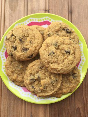 Favorite Low-Carb Chocolate Chip Cookies {THM-S, Low Carb, Sugar Free, Gluten Free, Dairy Free}