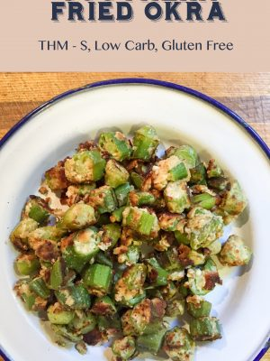 Southern Fried Okra {THM-S, Low Carb, Gluten Free}