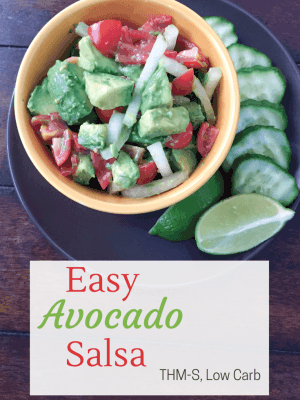 Easy Avocado Salsa {THM-S, Low Carb}