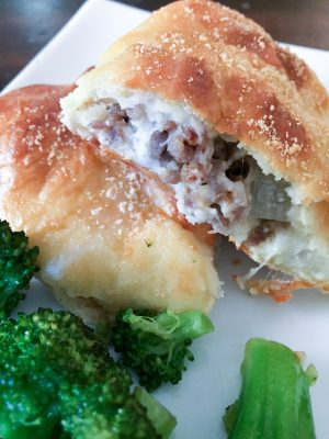 Sausage & Cheese Calzones {THM-S, Low Carb, Keto Friendly}