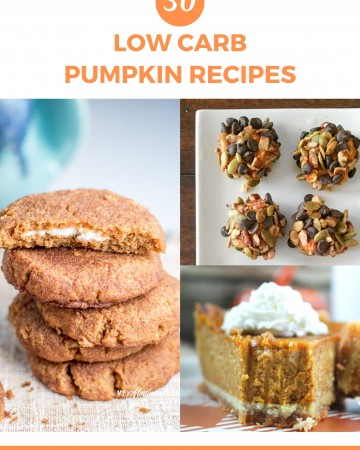 If you are looking for Low Carb Pumpkin recipes, you are sure to find something in this roundup. 30 Delicious, Keto Friendly Pumpkin Recipes - includes pies, cakes, bars, lattes, muffins, waffles, and more! #pumpkin #pumpkinspice #fall #keto #lowcarb #trimhealthymama #thm #thms #mymontanakitchen