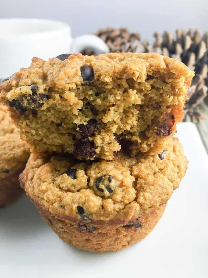 Pumpkin Chocolate Muffin in a Mug (THM-S, Low Carb, Sugar Free)