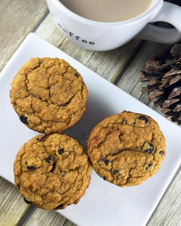 Pumpkin Chocolate Chip Muffin (THM-S, Sugar Free, Low Carb)