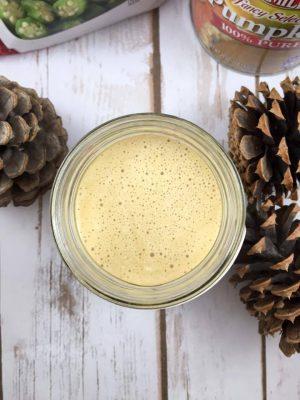 Secret Ingredient Pumpkin Coffee Smoothie {THM-FP, Low Carb, Sugar Free, Low Fat}