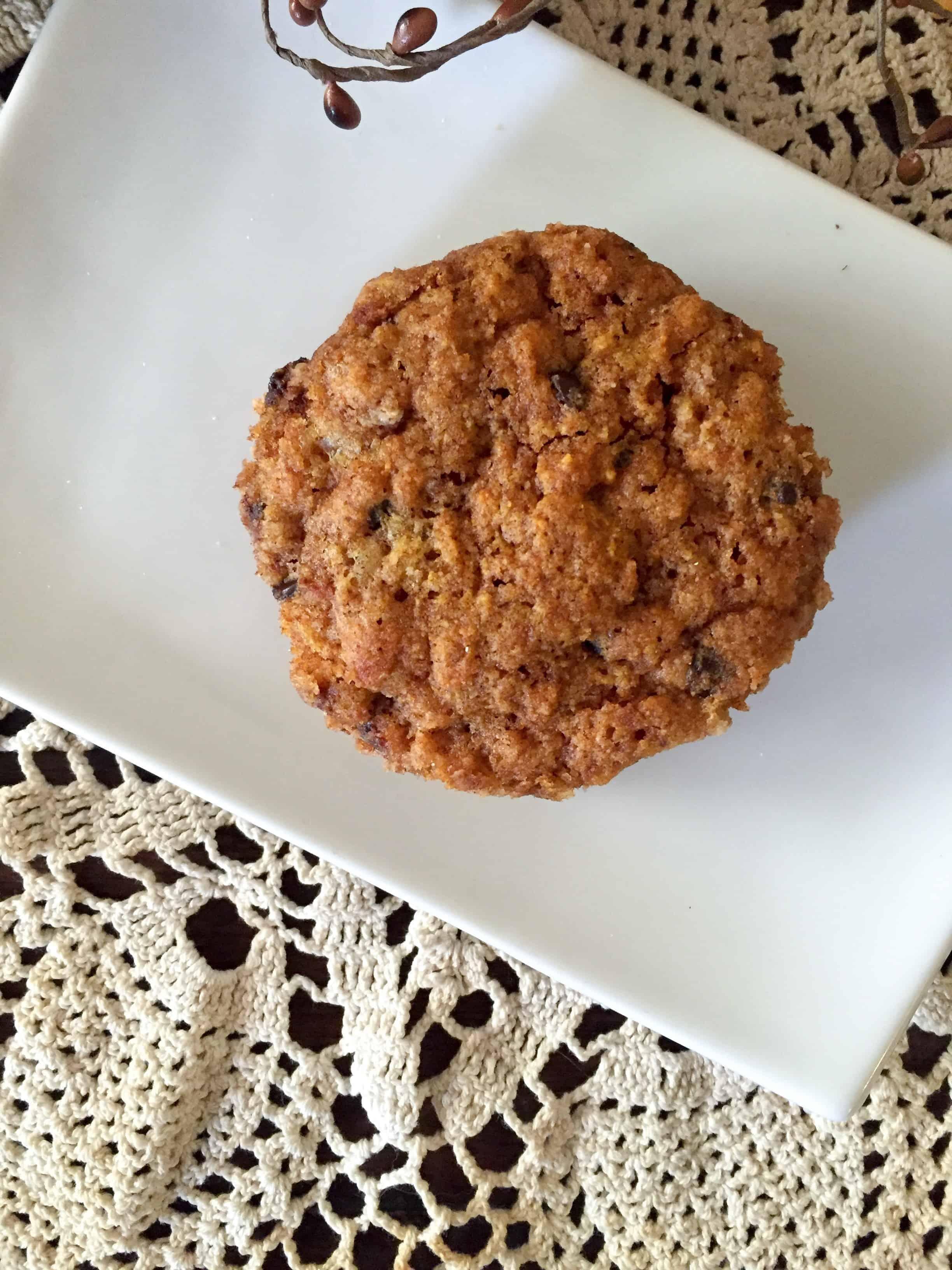 Pumpkin Chocolate Chip Muffin in a Mug