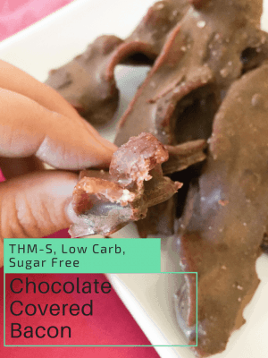 Chocolate Covered Bacon {THM-S, Low Carb, Sugar Free}