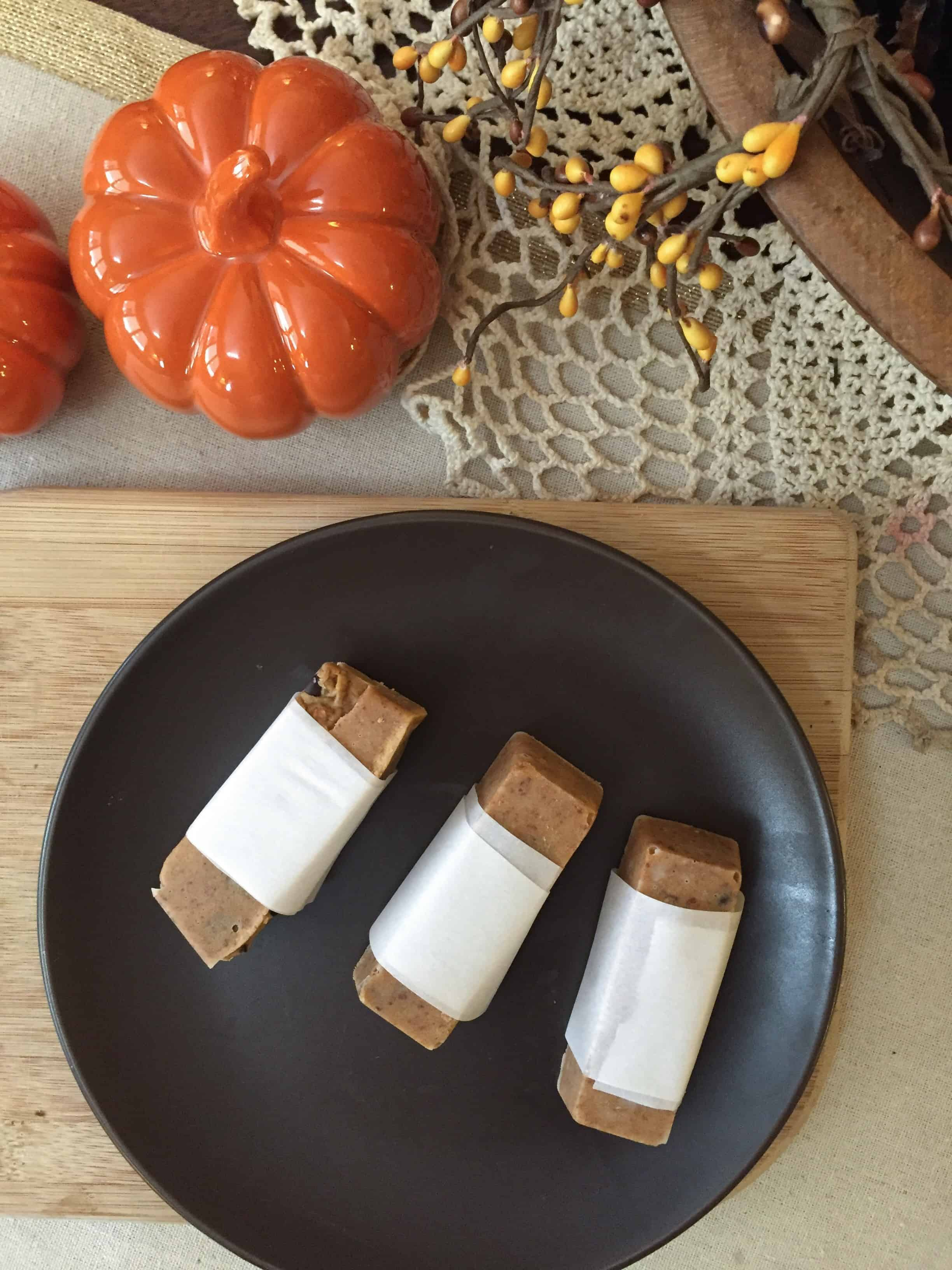 Low Carb, Sugar Free Pumpkin Pecan Chocolate Chip Protein Bars