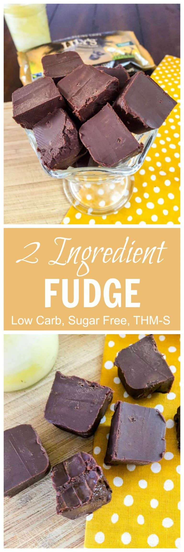 2 Ingredient Fudge Low Carb Sugar Free Thm S My