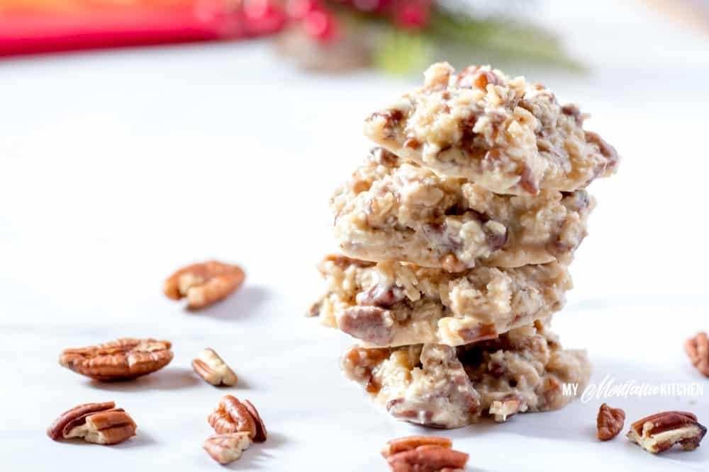 Holiday Praline No-Bake Cookies