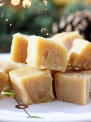 2 Ingredient Peanut Butter Fudge {THM-S, Low Carb, Sugar Free}