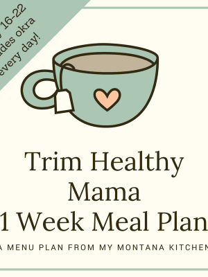 Trim Healthy Mama Meal Plan January 16-22