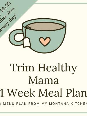 Trim Healthy Mama Meal Plan January 16-22