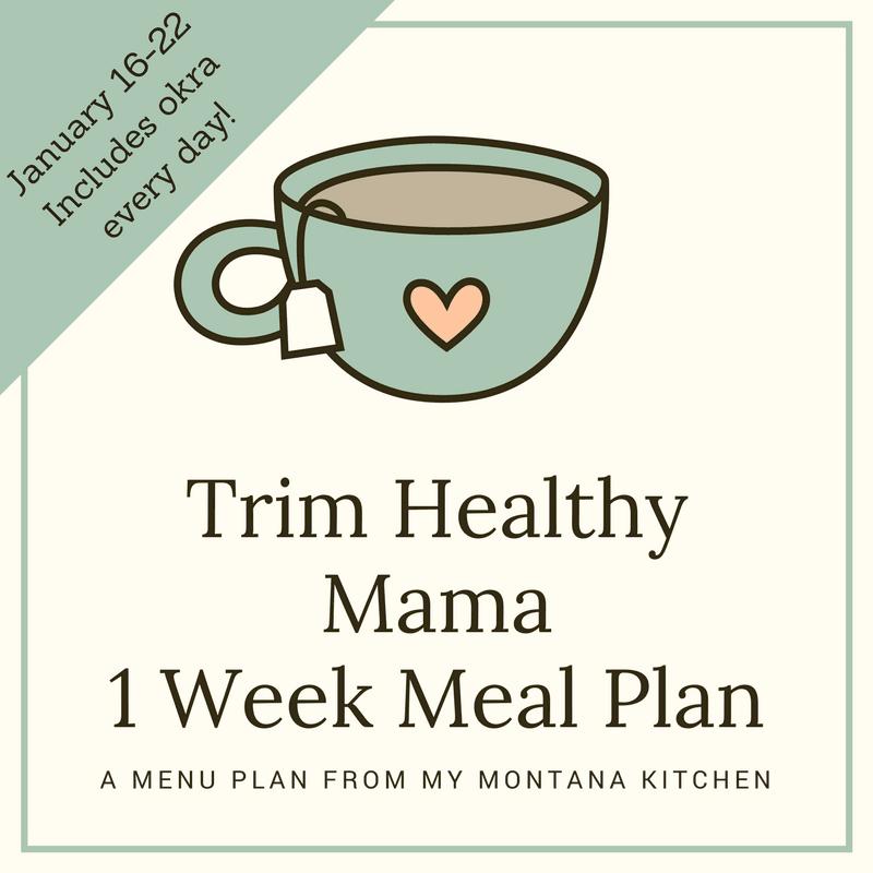 Trim Healthy Mama Menu Plan