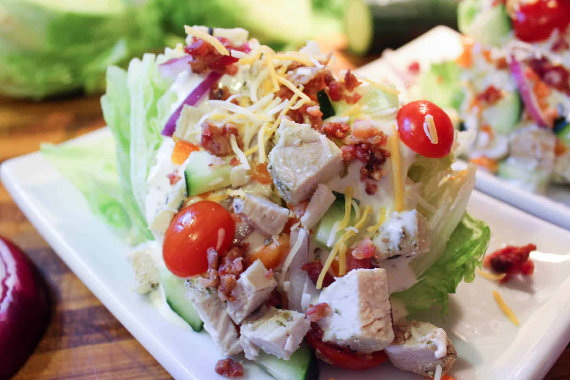 Basic Wedge Salad (THM-S, Low Carb)