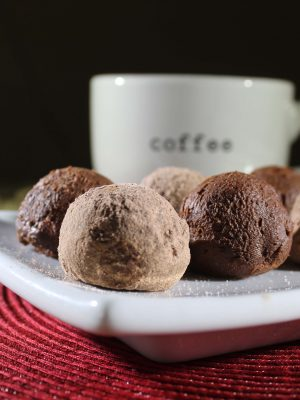 Chocolate Coffee Truffles {THM-S, Low Carb, Sugar Free}