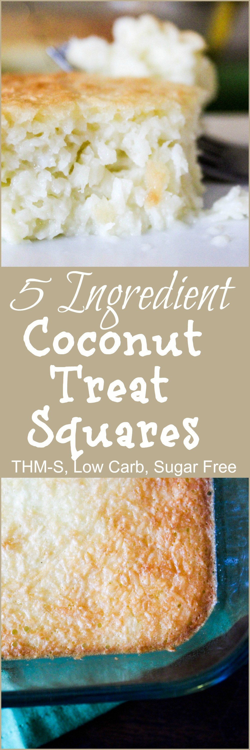 5 Ingredient Coconut Treat Squares {THM-S, Low Carb, Sugar Free ...
