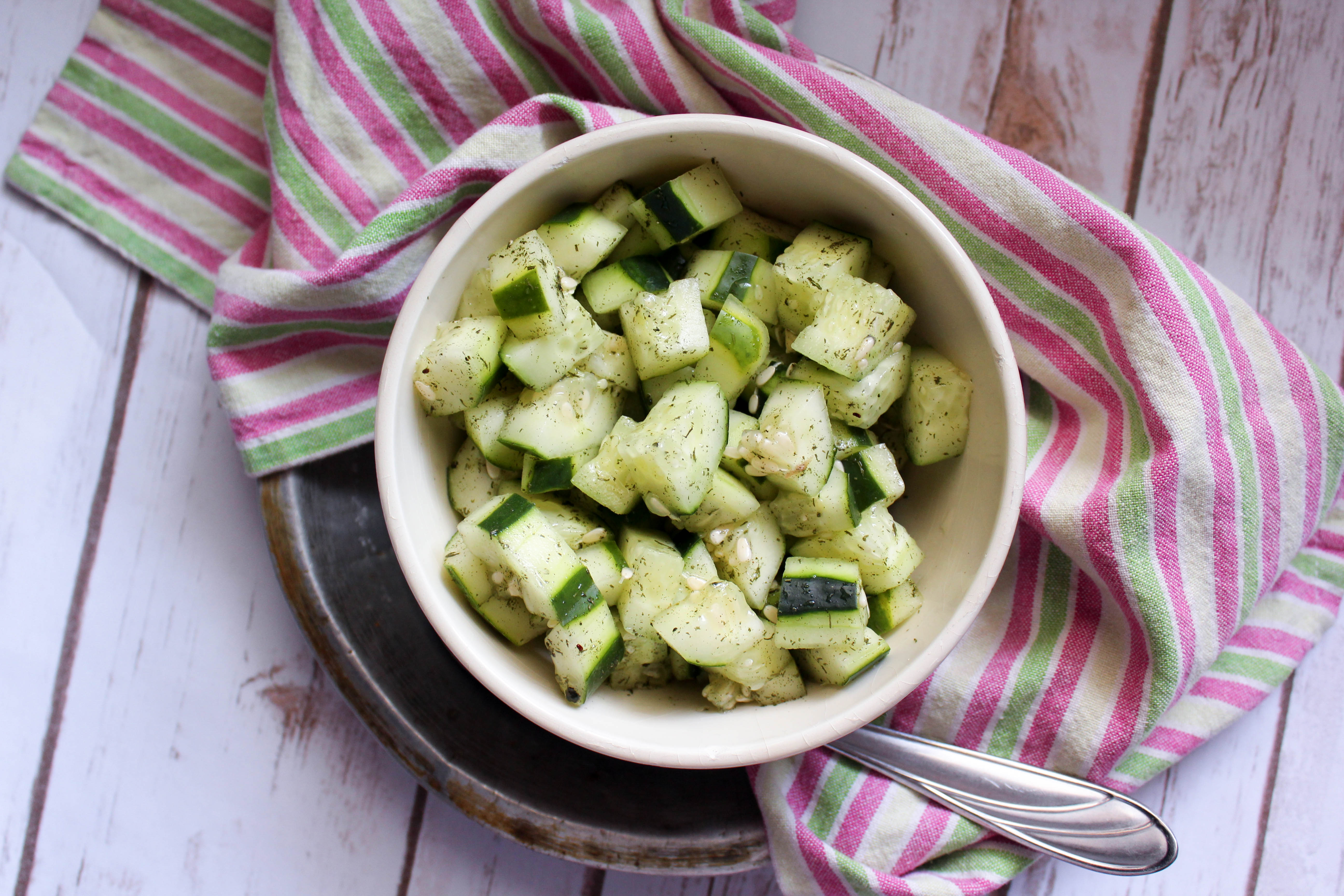 Easy Marinated Cucumbers (THM-FP, Low Carb)