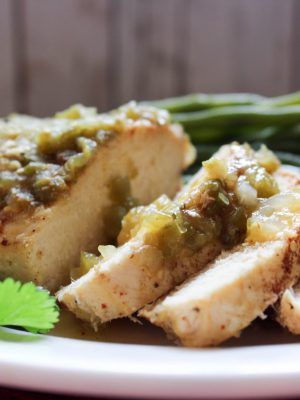 4 Ingredient Salsa Verde Chicken {THM-FP, Low Carb, Instant Pot}