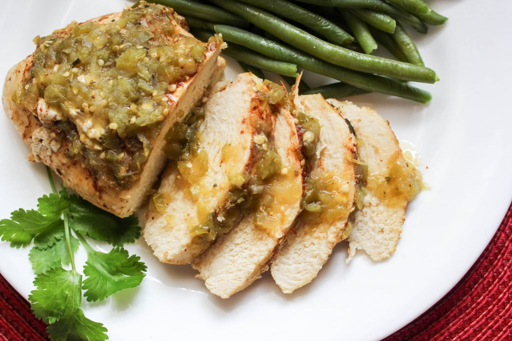 4 Ingredient Salsa Verde Chicken (THM-FP, Low Carb, Instant Pot_