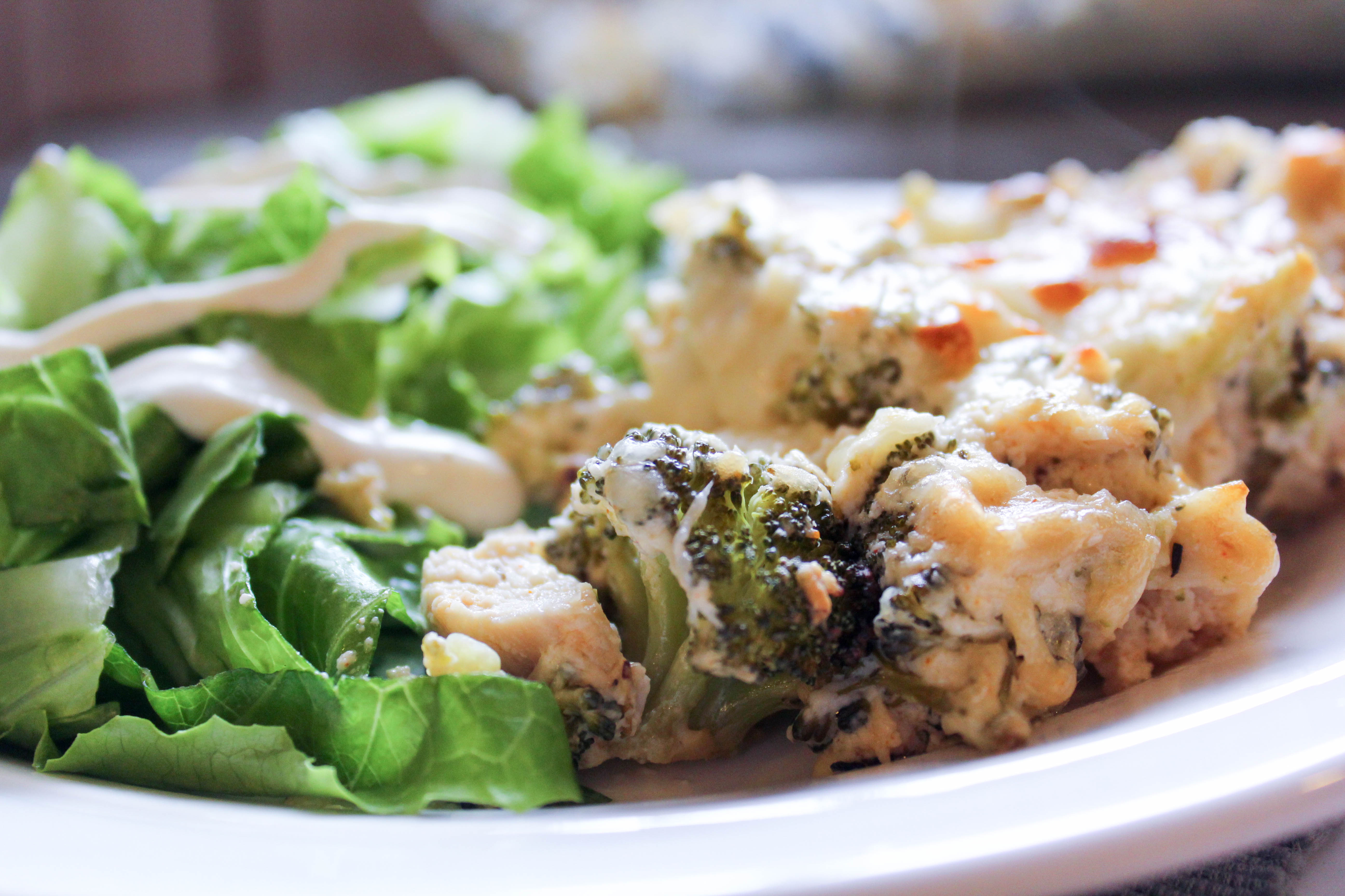 Cheesy Chicken and Broccoli Casserole (THM-S, Low Carb_