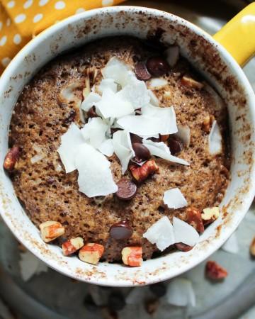 German Chocolate Muffin in a Mug (THM-S, Low Carb, Sugar Free)