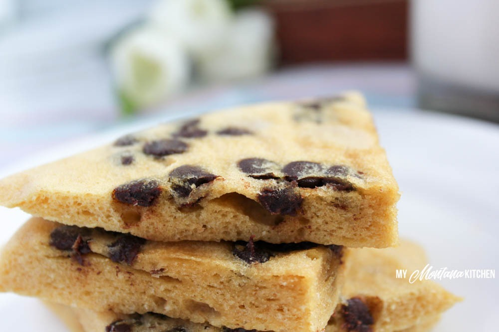 2 Minute Peanut Butter Chocolate Chip Cookie (Low Carb, Sugar Free, THM-S)
