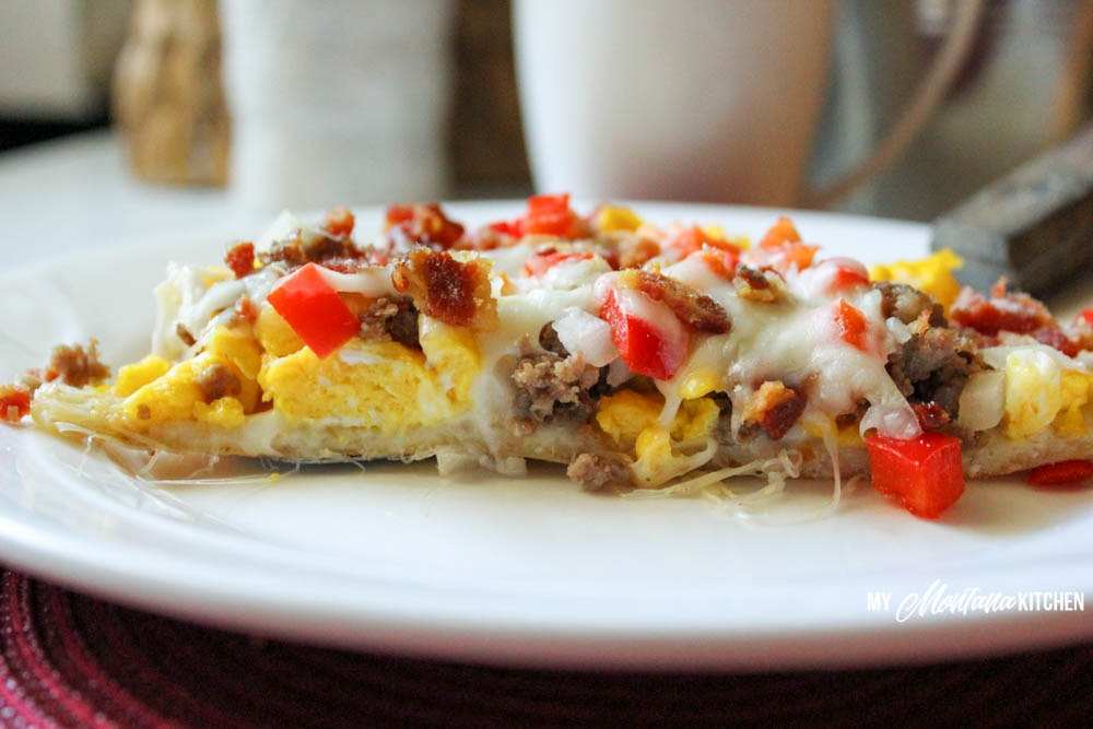 Low Carb Breakfast Pizza (THM-S, Gluten Free)