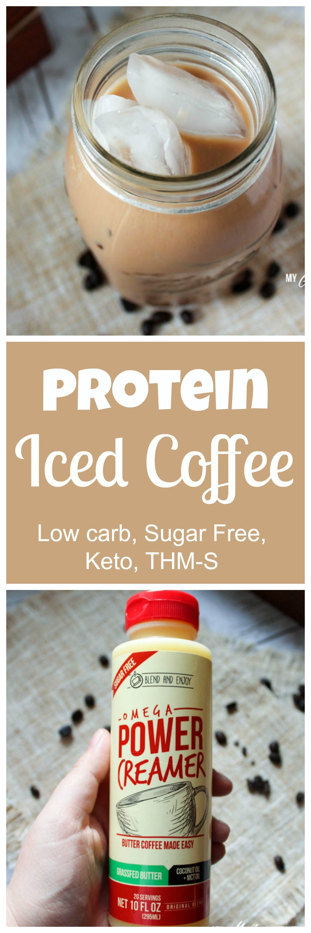 Protein Iced Coffee (Low Carb, Sugar Free, THM-S)