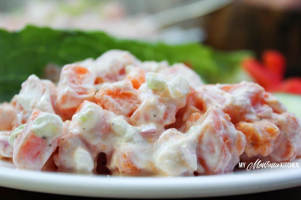 Sweet Potato Salad (THM-E, Low Fat)