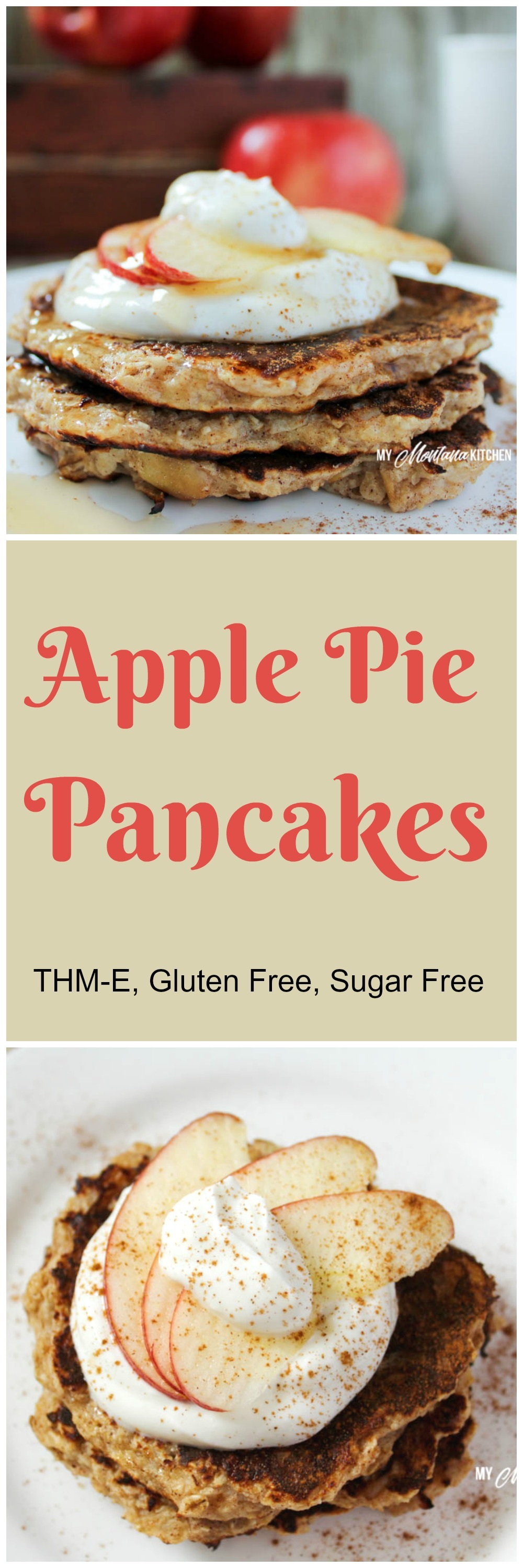 Apple Pie Pancakes (THM-E, Low Fat, Sugar Free)