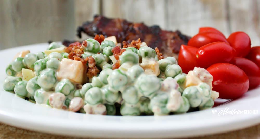 Creamy Pea Salad (THM-S, Low Carb)