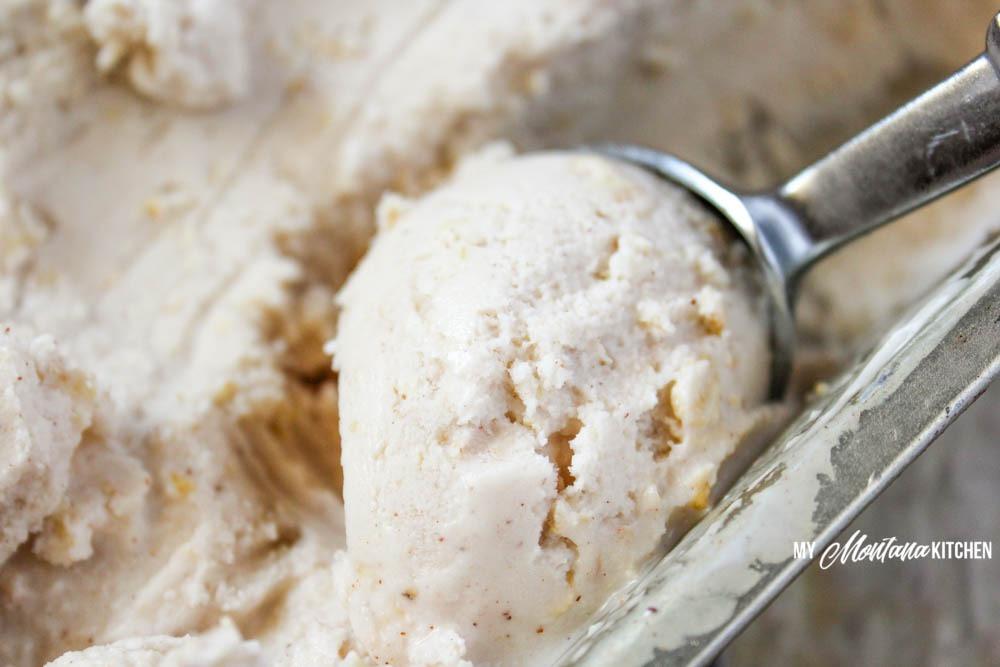Oatmeal Cookie Frozen Yogurt (THM-E, Sugar Free, Low Fat)