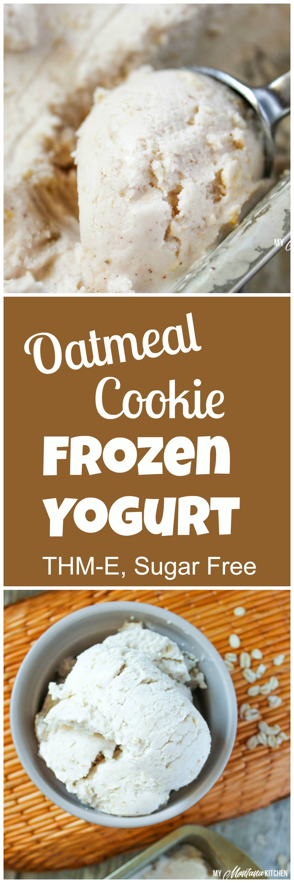 Oatmeal Cookie Frozen Yogurt (THM-E, Sugar Free, Low Fat)