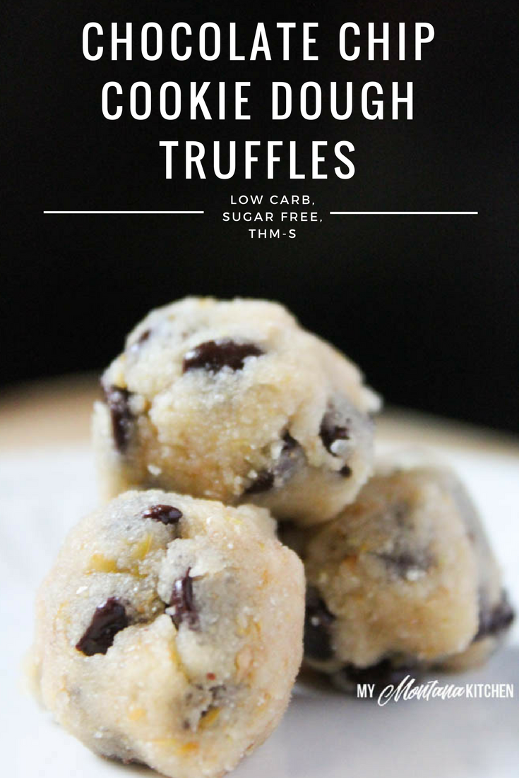 Chocolate Chip Cookie Dough Truffles (Low Carb, Sugar Free, THM-S)