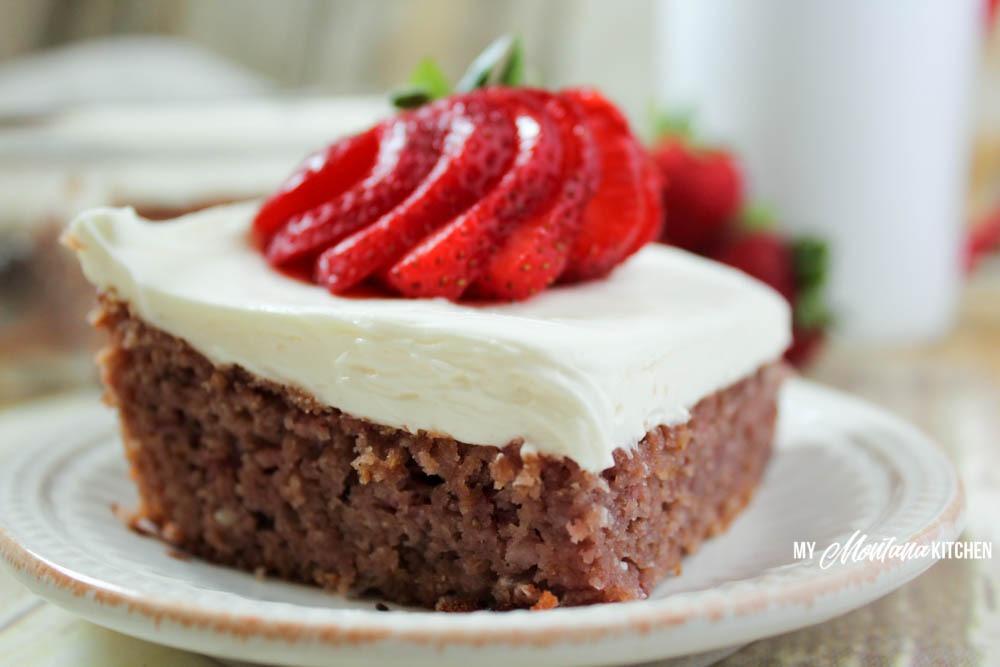 Strawberry Cake Low Carb Thm S Sugar Free My Montana Kitchen