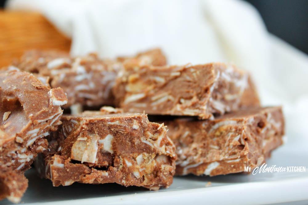No-Bake Collagen Fudge Bars (Low Carb, Sugar Free, THM-S)