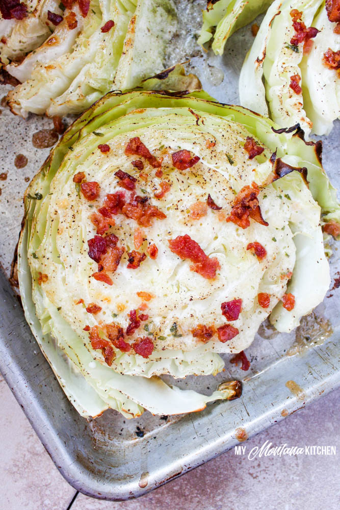 Bacon and Ranch Cabbage Steaks (Low Carb, THM-S)
