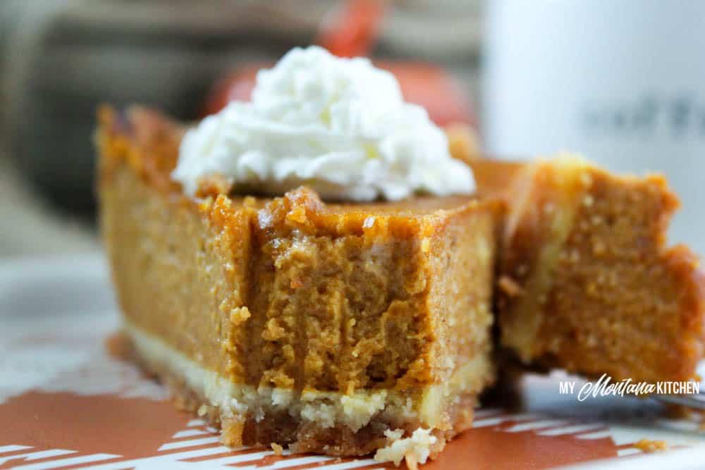 Low Carb Pumpkin Pie (Sugar Free, THM-S) #pumpkinpie #pumpkin #lowcarb #sugarfree #thm #glutenfree