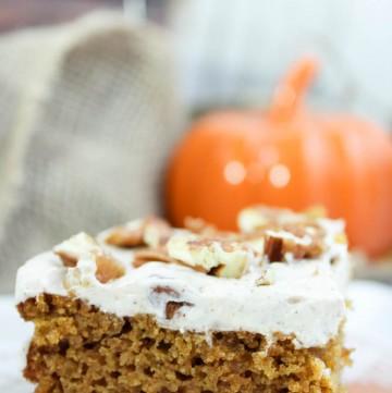 Pumpkin Pecan Cake (Low Carb, Sugar Free, THM-S) #trimhealthymama #thm #pumpkin #pumpkincake #pecan #sugarfree #lowcarb #glutenfree #mymontanakitchen