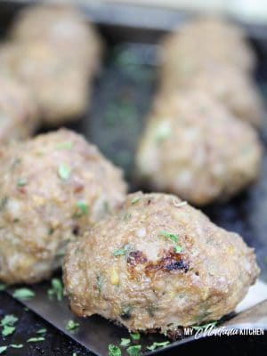 Easy Low Carb Meatballs (THM-S, Gluten Free)