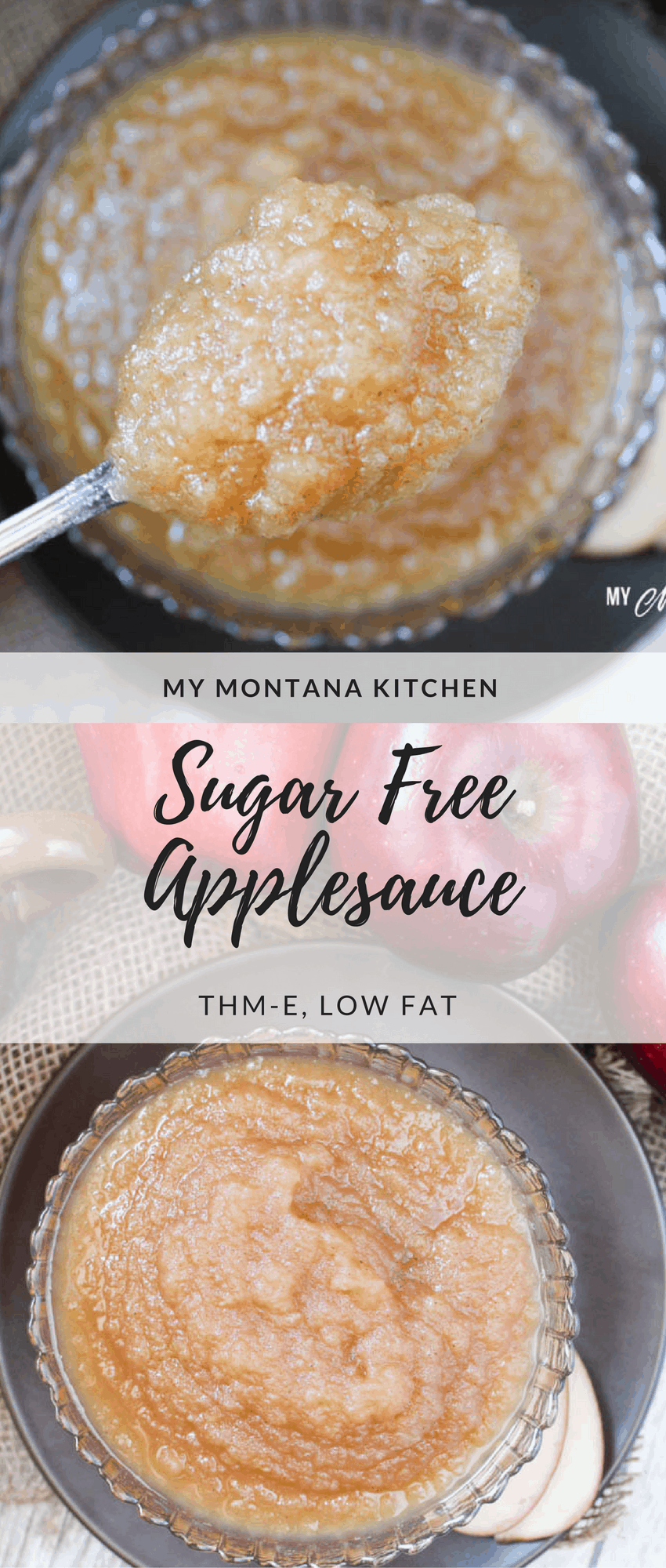 Sugar Free Applesauce (THM-E) #trimhealthymama #thm #thme #healthycarbs #sugarfree #applesauce