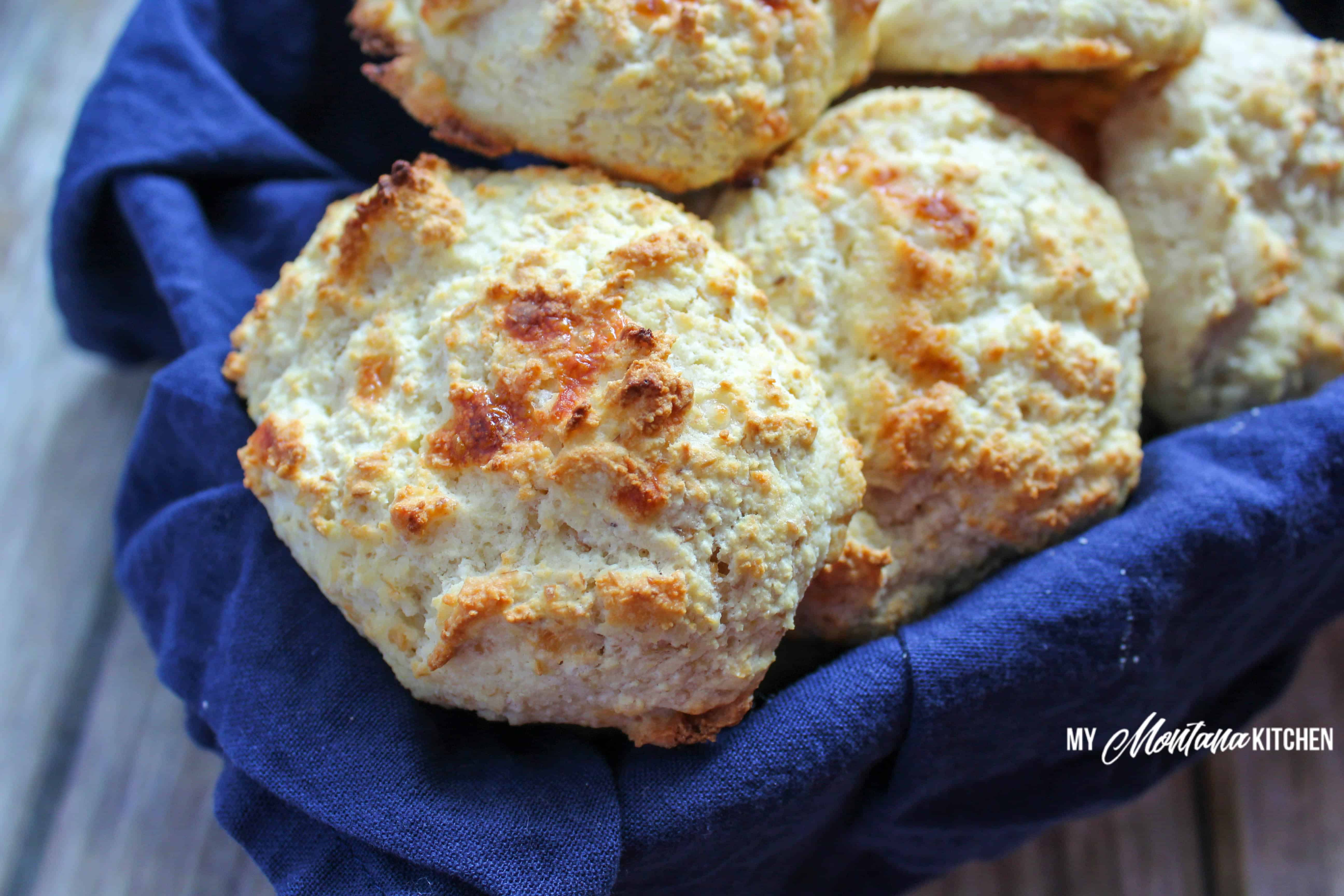 Low Carb Biscuits (THM-S, Gluten Free, Keto) #trimhealthymama #thm #thm-s #biscuits #lowcarb #keto #lowcarbbiscuit #mymontanakitchen