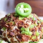 Easy Bacon Jalapeño Cheese Ball (Low Carb, THM-S)