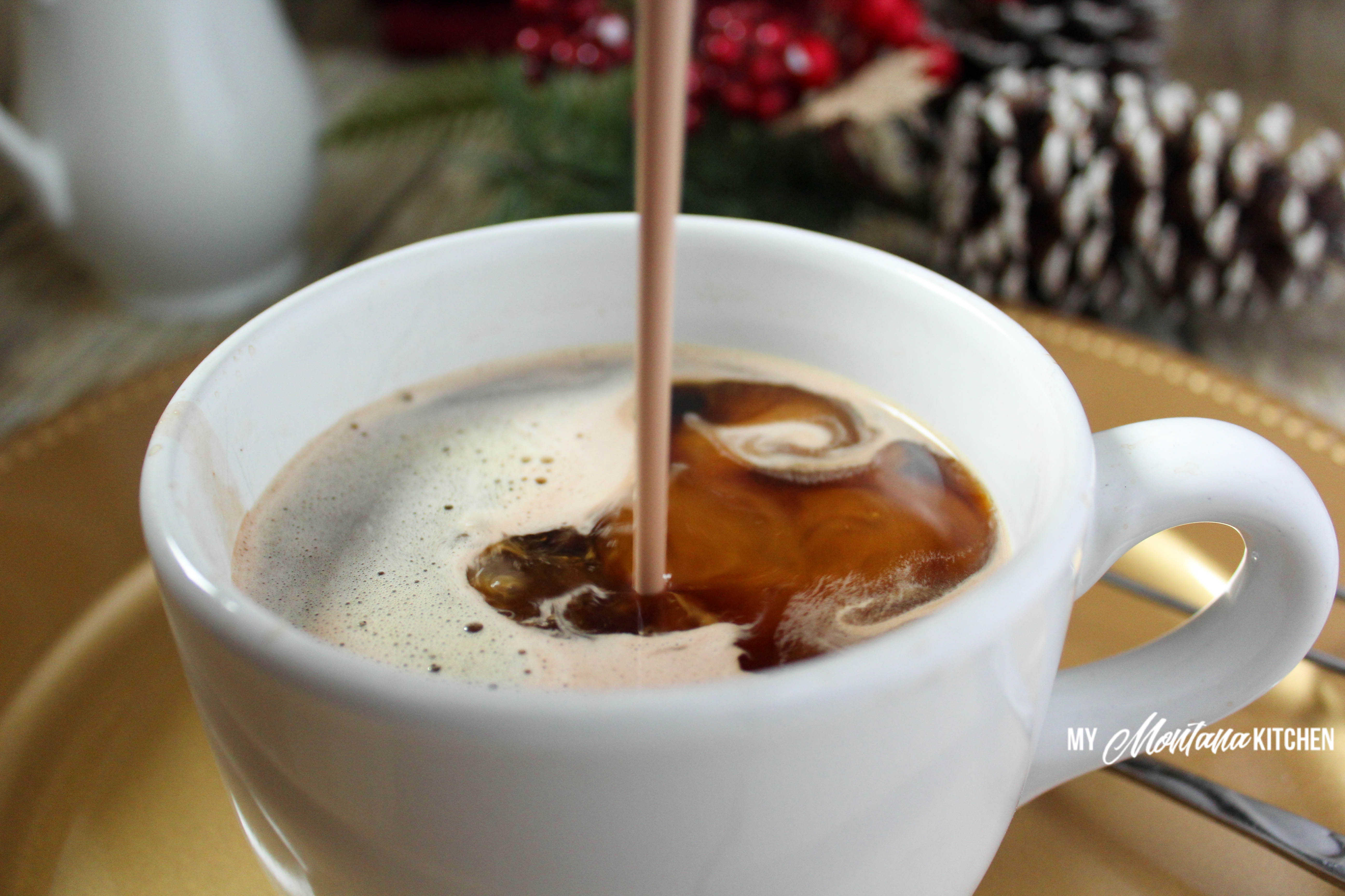 Peppermint Mocha Coffee Creamer (Low Carb, Sugar Free, THM-S) #trimhealthymama #thm #thm-s #coffee #coffeecreamer #peppermint #mocha #lowcarb #sugarfree #peppermintcreamer #lowcarbcoffeecreamer