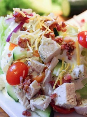 Easy Lunch Ideas - Basic Wedge Salad (THM, Low Carb) #trimhealthymama #thmlunch #quicklunch #easylunchideas