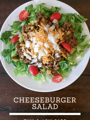 Easy Lunch Ideas - Cheeseburger Salad (THM, Low Carb) #trimhealthymama #thmlunch #quicklunch #easylunchideas