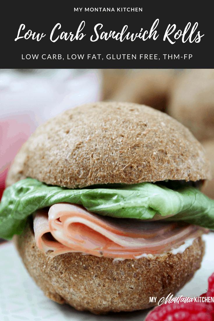 Low Carb Sandwich Rolls (Gluten Free, Low Fat, THM-FP) #trimhealthymama #thm #thmbread #lowcarb #lowcarbbread #ketobread #glutenfree #dairyfree #thmfp #fuelpull #mymontanakitchen