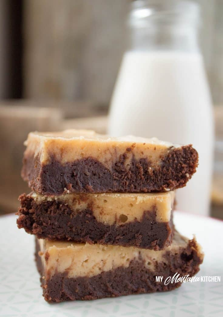 Low Carb Peanut Butter Swirl Brownies