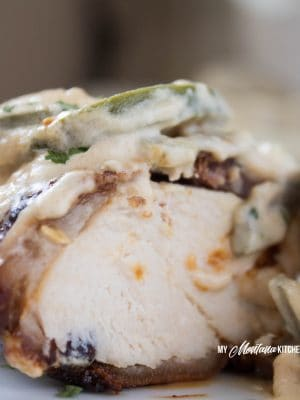 Bacon Wrapped Chicken with Jalapeño Cream Sauce