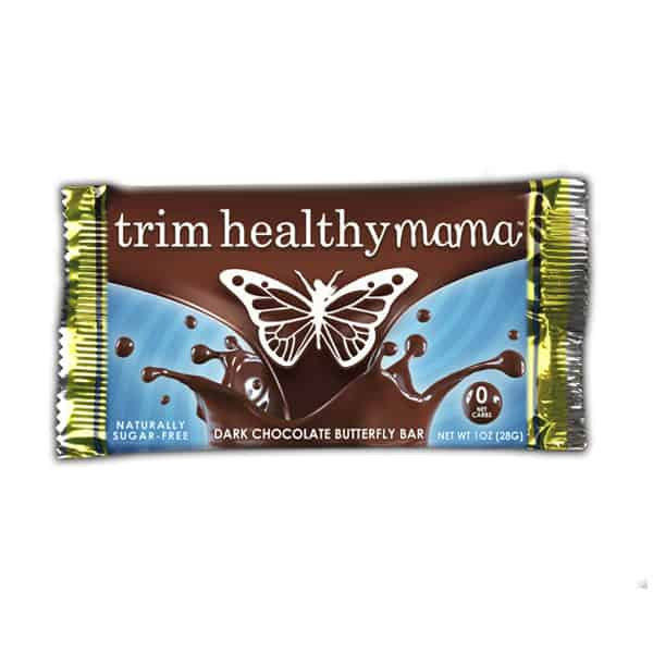 Trim Healthy Mama Dark Chocolate Butterfly Bar (Sugar Free)